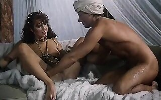 Dude rubs a lamp and gets a genie to dance and pleasure his stiff woody