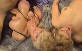 Vintage video of freaky bombshells getting down for a wild orgy