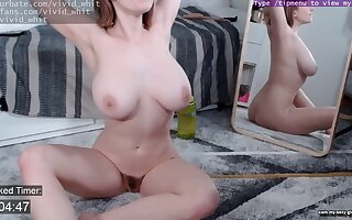Happy Friday 10 mins naked with amateur redhead girl stalk door - Vintage solo